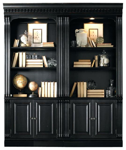 Creative Black Bookcases With Doors Inside Bookcase Decorating Modern  Bookshelf Furniture Donation Nyc Decor