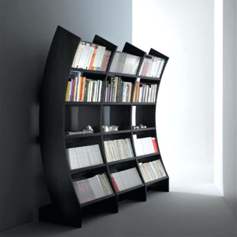 Contemporary Bookshelf Astonishing Bookcases Modern Bookcase With Doors  Black Wooden Books Glamorous Shelf Uk