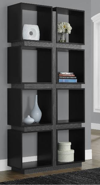 Monarch Specialty Modern Black Bookcase