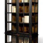 Unique and creative modern black   bookshelf with doors