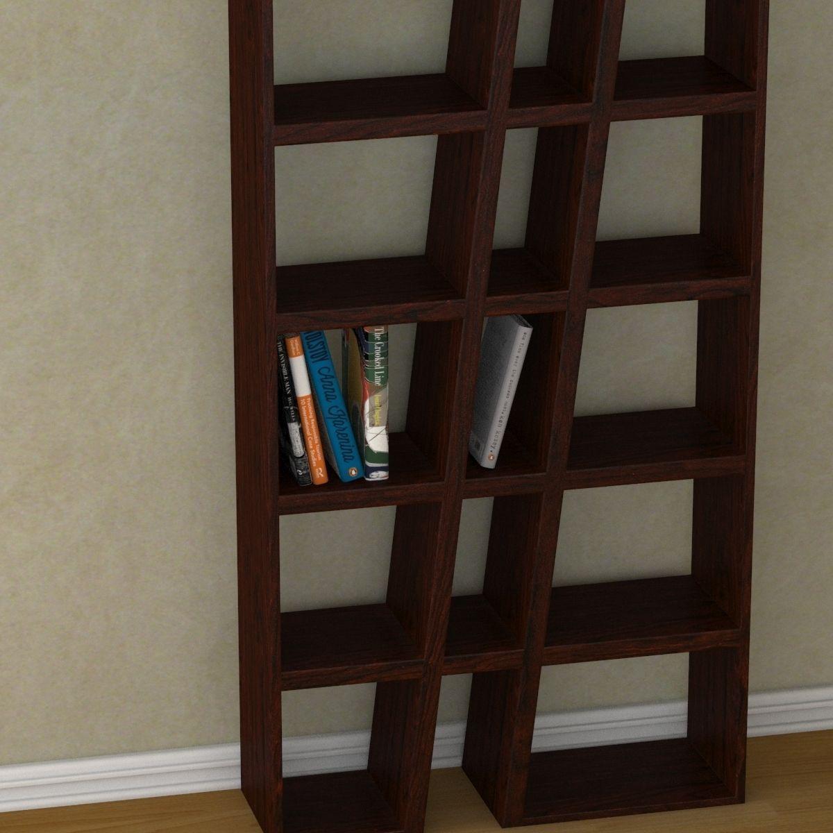 modern bookshelf 3d model max obj mtl 3ds fbx 4
