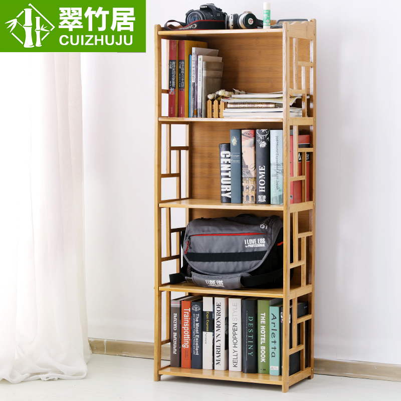 Buy Bamboo home bamboo wood bookcase shelf bookcase minimalist modern models  archaized students home bookshelf multilayer in Cheap Price on m.Traveller Location