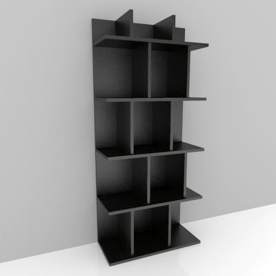 Modern bookshelf 3d model