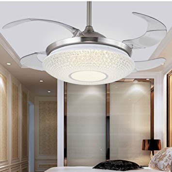 Lighting Groups Modern Simple Led Bright Ceiling Fan With Acrylic Lampshade  -42 inch for Living