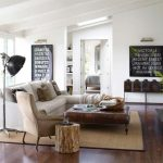Modern country decor living room go well   with stenciled signs