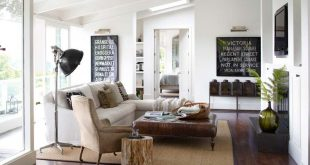 Blend modern and country for living room