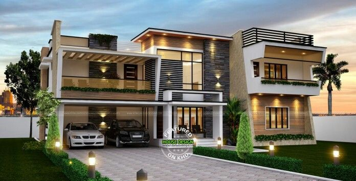 Terrace Design, Dream Home Design, House Design, Contemporary House Plans, Modern  House