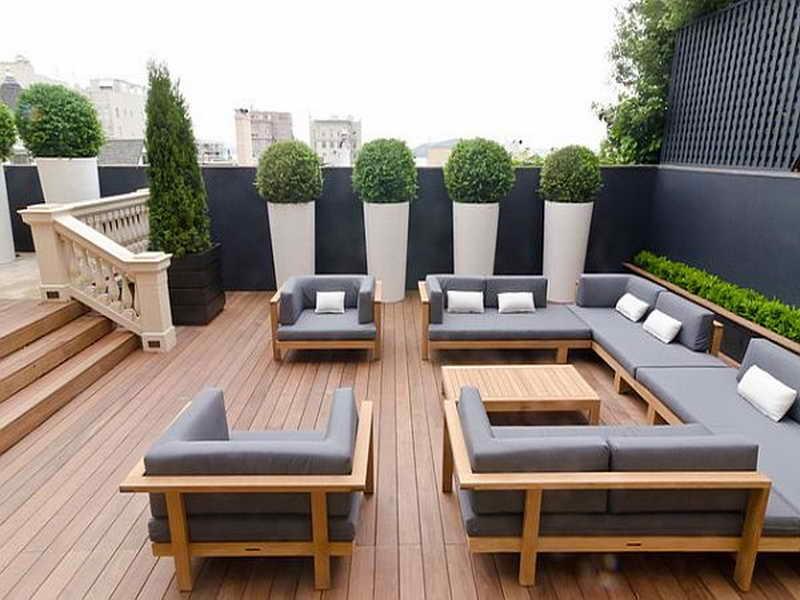Patio, Patio Furniture Wood Wood Patio Furniture Plans A Big Set Of Gray  Seat Pad