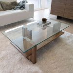 Elegant functional ideas for modern glass   and wood coffee table