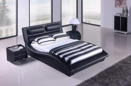 Matisse Napoli Modern Platform Bed-black (King)