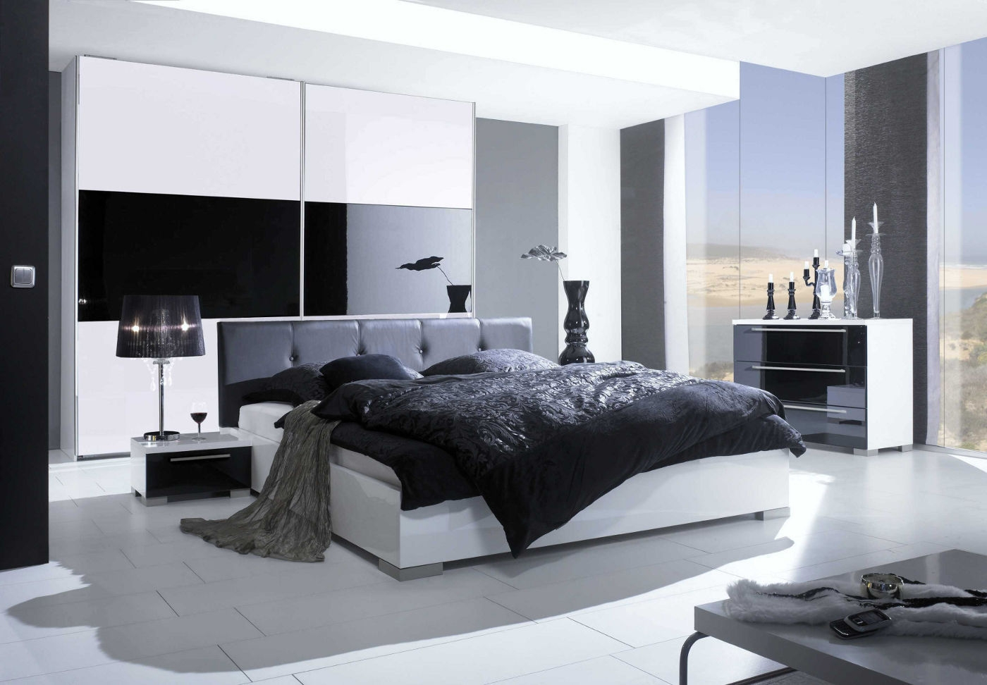 Modern bedroom sets with storage, contemporary bedroom set palermo .