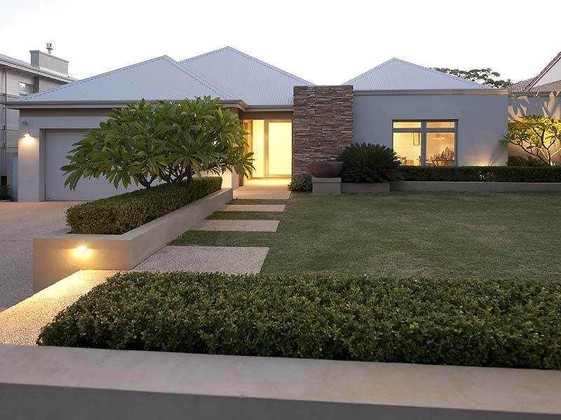 40 Stunning Modern Front Yard Landscaping Ideas - Popy Home