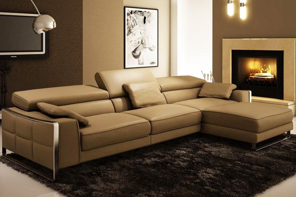 Modern Leather Sectional Sofa Flavio