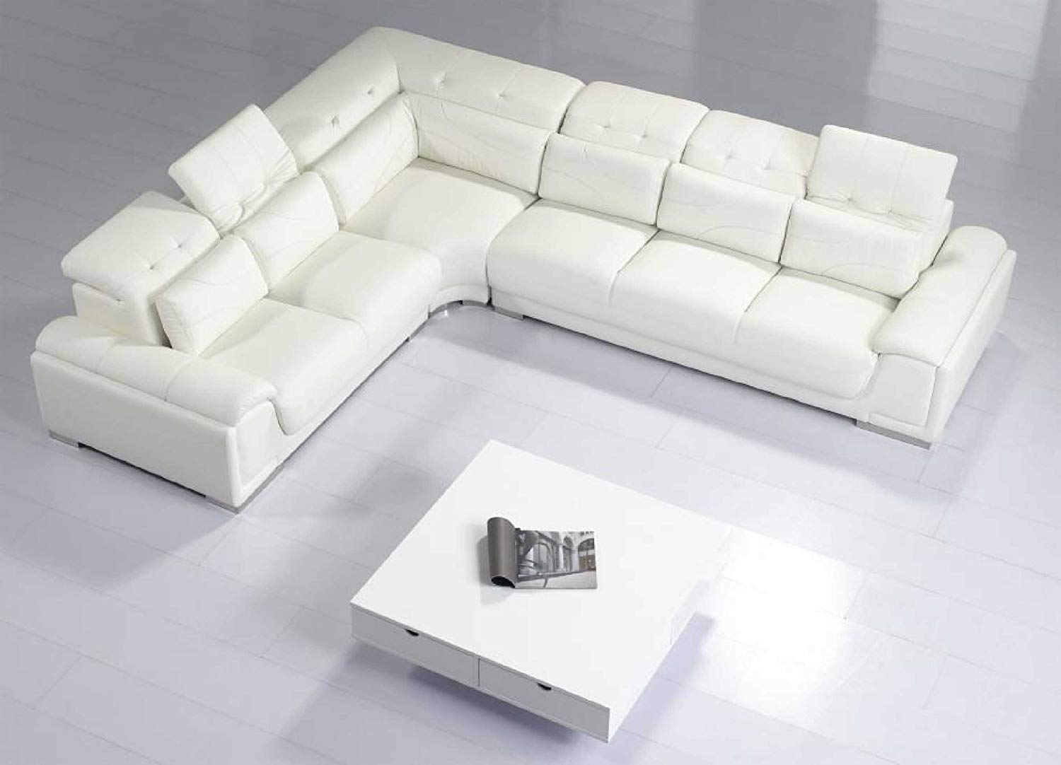Modern leather couch sofa : offers great   comfort