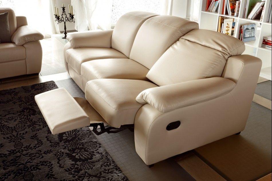 Modern Reclining Sofa Beige