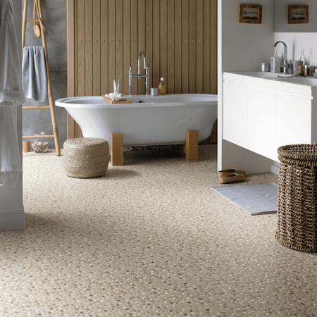 More Karndean 12″x12″ vinyl tile floors with retro and retro-modern .