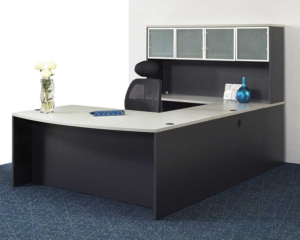 Executive Office Furniture Set Design Ideas with Modern Desk Set and  Beautiful Drawer also Comfortable Black Swivel Chair Smart Decor Inspiration