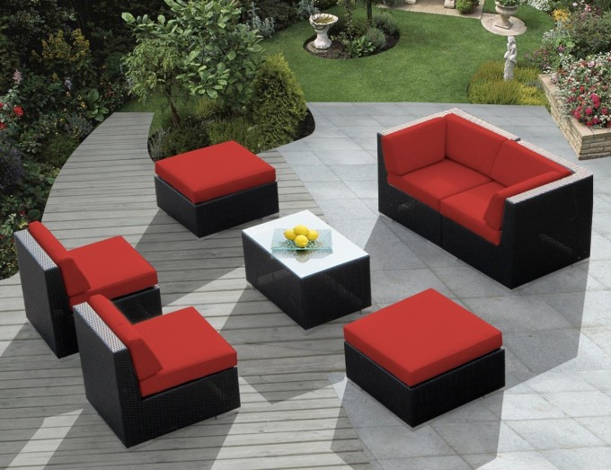 Exterior Design: Modern Patio Design With Cool Ohana Patio Furniture