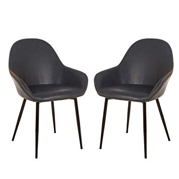 Amazon.com: Glitzhome Modern Arm Chairs Dining Living Restaurant