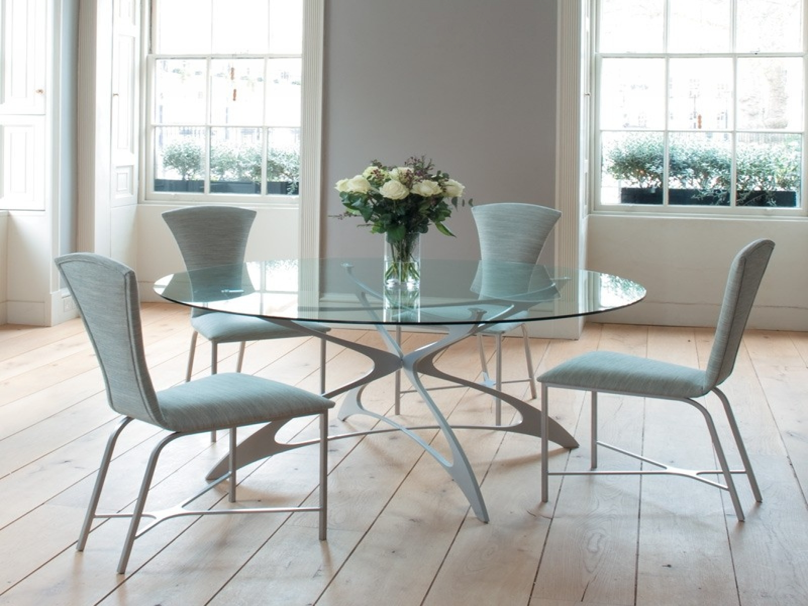 Dining Tables, Marvellous Round Glass Dining Table And Chairs Round  Glass Top Dining Table White