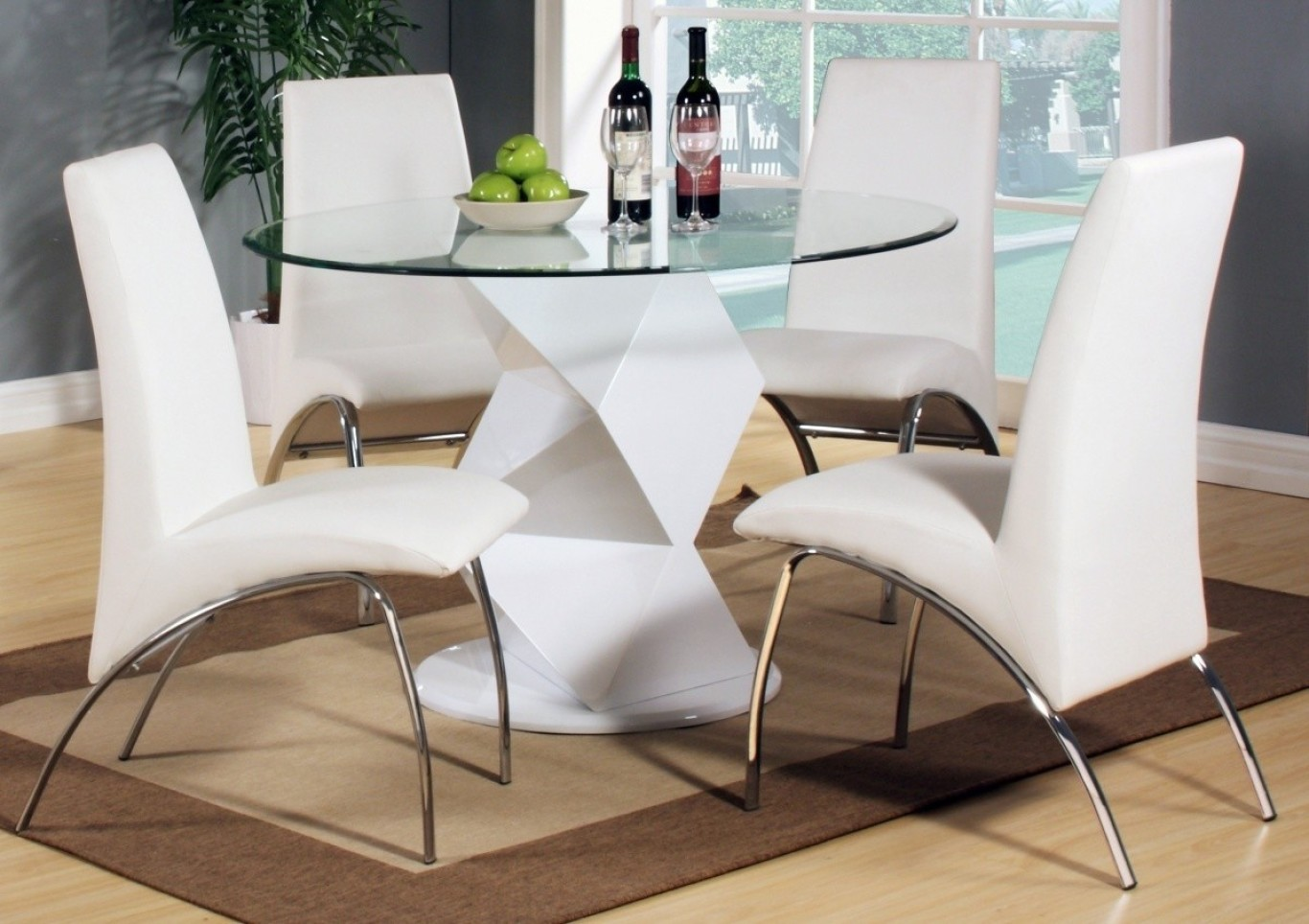 Large Images of Round Glass Dining Table Decorating Ideas Round Glass  Dinner Table Set Tall Round