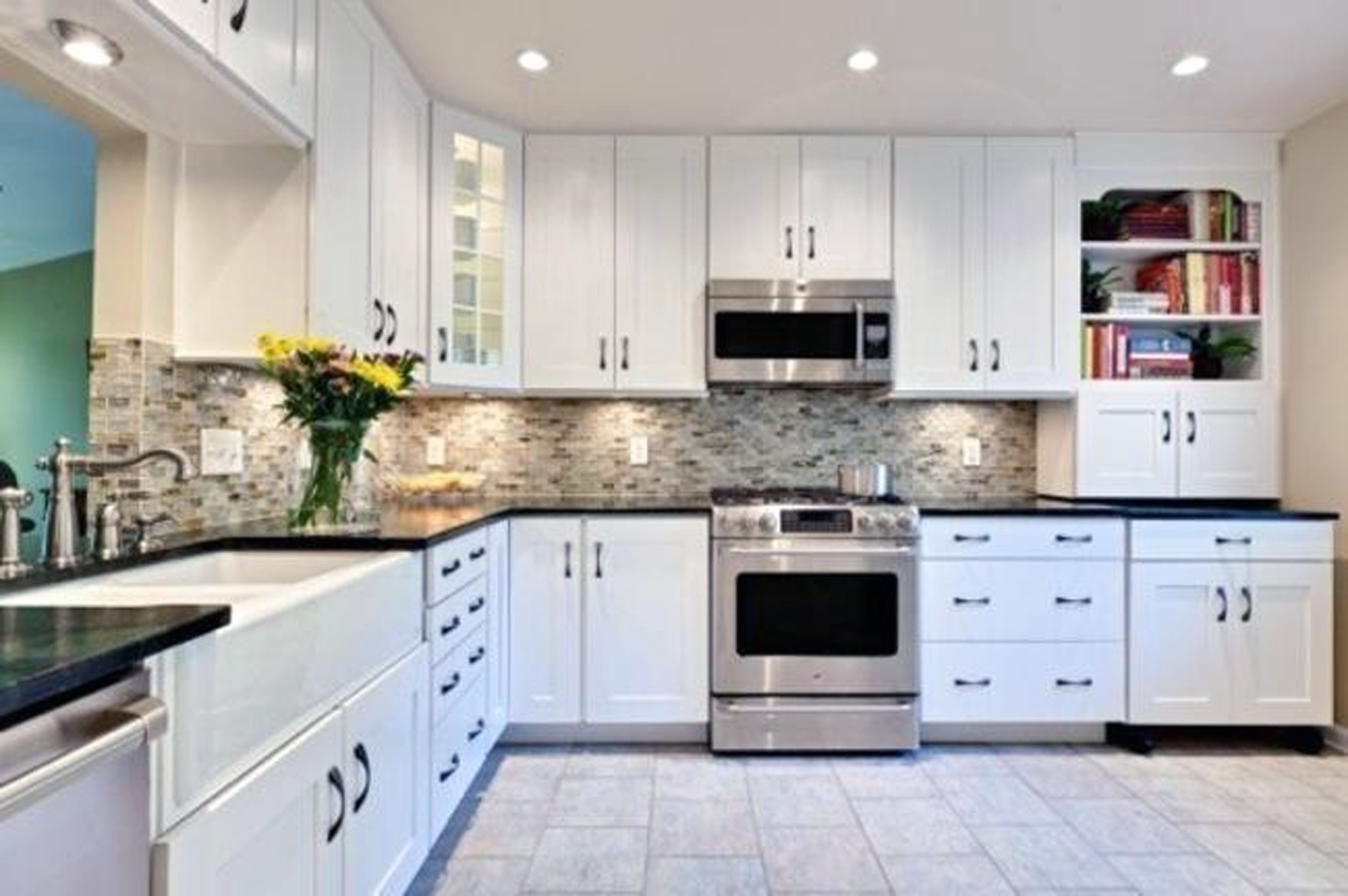 Kitchen Design White Cabinets Simple Designs With Black And Surripui  Awesome All About Home Pictures Kitchens