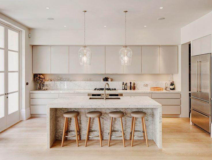 19 of the Most Stunning Modern Marble Kitchens | Kitchens | Kitchen
