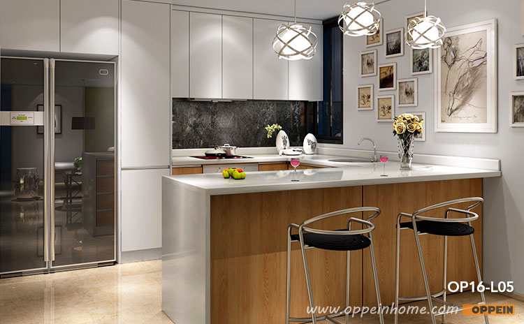 Melamine Kitchen Cabinet, Melamine Wood Grain Finish, White Kitchens