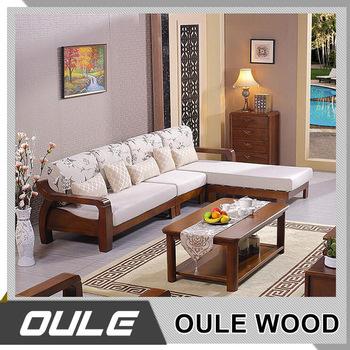 2017 New Modern Design Exposed Solid Wooden Frame Living Room Sofa