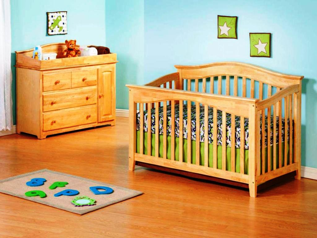 Image of: Modern Woodland Crib Bedding