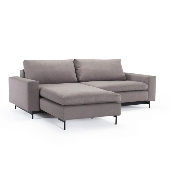 IDI Modular with Arms – Left or Right Facing Fabric Sectional Sleeper / Sofa  Bed by Innovation Living (QUICK SHIP)