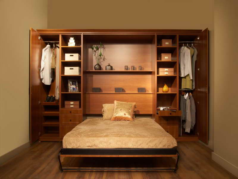 Twin Murphy Bed with Storage
