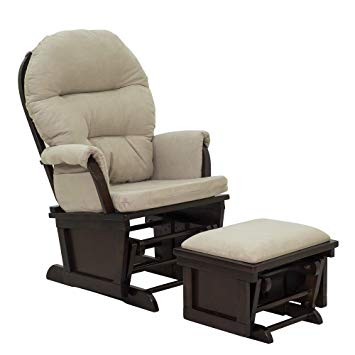 Amazon.com: HOMCOM Nursery Glider Rocking Chair with Ottoman Set