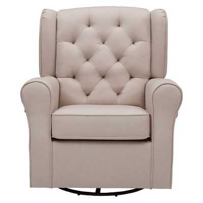 Delta Children® Emma Nursery Glider Swivel Rocker Chair - Flax : Target