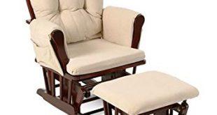 Amazon.com: Beige Bowback Nursery Baby Glider Rocker Chair with