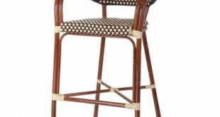 Aluminum Bamboo Outdoor Bar Stool with Woven Seat & Back in 2018
