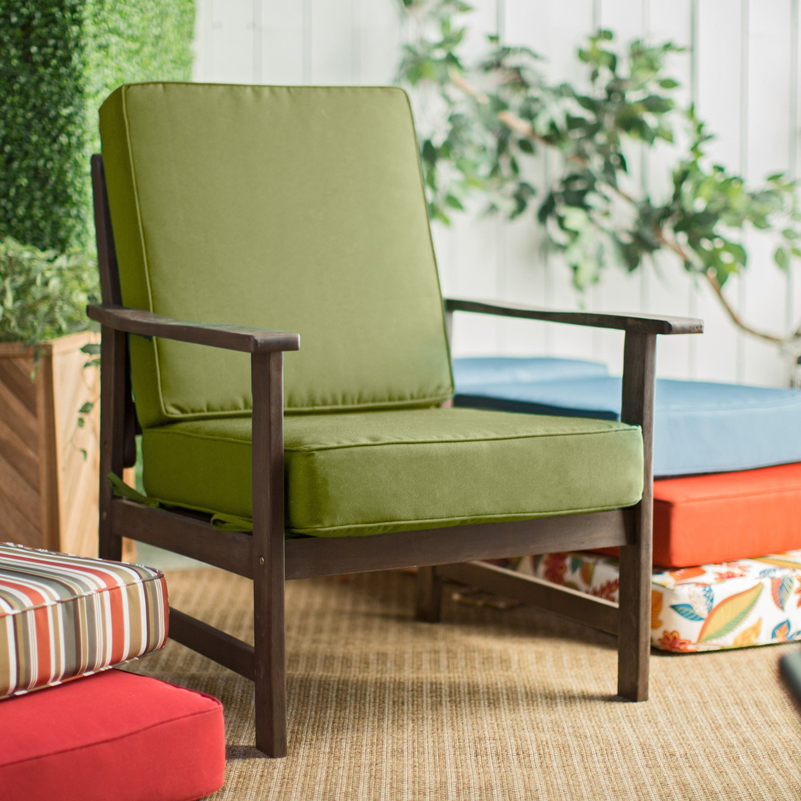 Outdoor Patio Chair Cushions Green