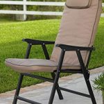Buy durable outdoor padded folding chairs   with arms to relax
