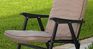 Amazon.com : Extra-Wide Folding Padded Outdoor Chair (Khaki