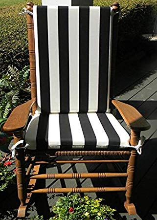 Amazon.com: Indoor / Outdoor Black & White Stripe Print Rocking