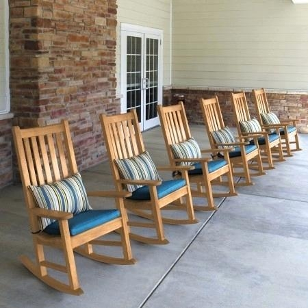 Picture 3 of 16 - outdoor rocking chair pads and cushions like this