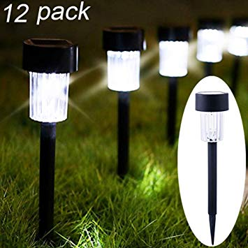 Maggift 12 Pack Solar Pathway Lights Solar Garden Lights Outdoor