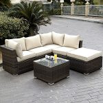 Emotional value of an outdoor wicker sofa   set