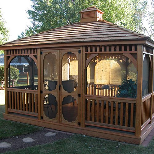 Rectangle Wood Gazebos | Country Lane Gazebos