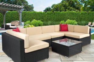 Costway 4 Pc Rattan Patio Furniture Set Garden Lawn Sofa Cushioned Seat Mix  Gray Wicker - Traveller Location