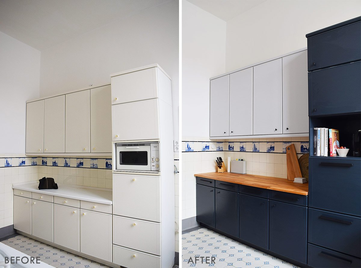 How To Paint Laminate Kitchen Cabinets + Tips For A Professional & Long  Lasting Finish