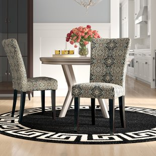 Sture Damask Print Parson Chair (Set of 2)