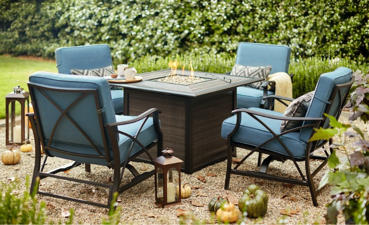 Patio deck tables in home design