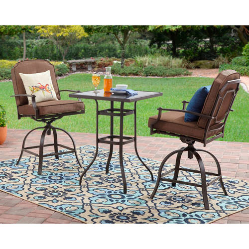 Mainstays Wentworth 3-Piece High Outdoor Bistro Set, Seats 2 - Traveller Location
