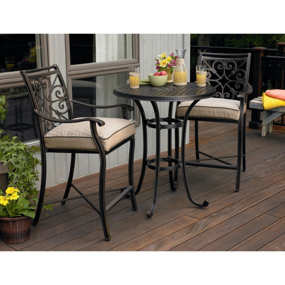 HomeOfficeDecoration Outdoor Bar Height Bistro Sets bar height round bistro  table